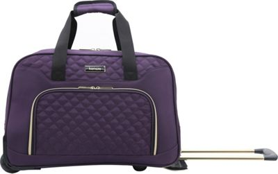 Kensie Luggage Kensie Luggage Kensie 19 inch Rolling Carry-On Travel Duffel Purple - Kensie Luggage Softside Carry-On