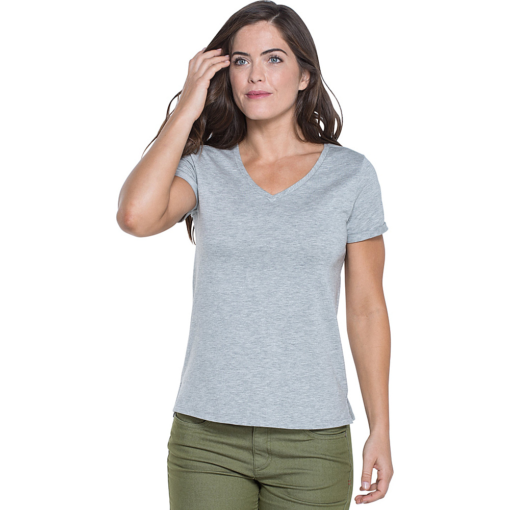 Toad & Co Ventana Short Sleeve Tee XS - Heather Grey - Toad & Co Womens Apparel - Apparel & Footwear, Women's Apparel