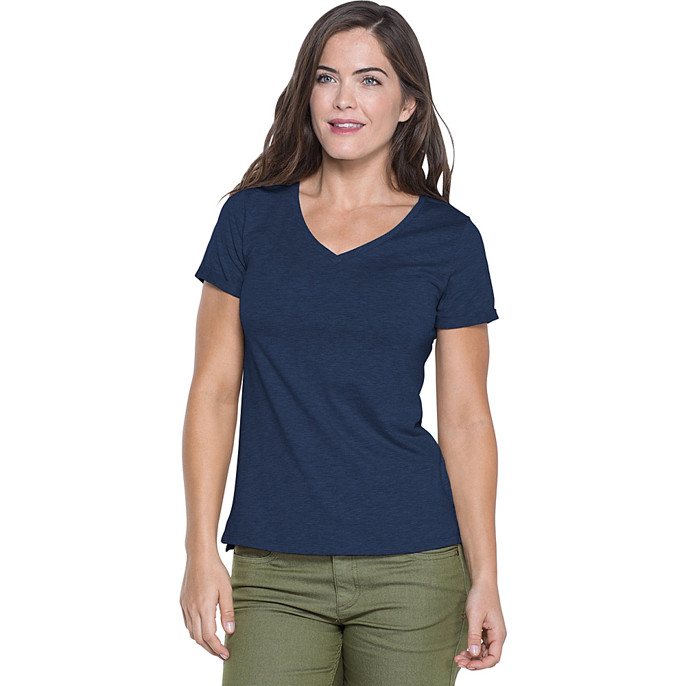 Toad & Co Ventana Short Sleeve Tee M - Deep Navy - Toad & Co Womens Apparel - Apparel & Footwear, Women's Apparel