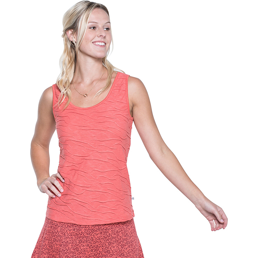 Toad & Co Samba Wave Tank XL - Spiced Coral - Toad & Co Womens Apparel - Apparel & Footwear, Women's Apparel