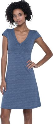 Toad & Co Rosemarie Dress S - Indigo Stripe - Toad & Co Women's Apparel