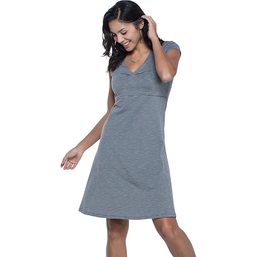 Toad & Co Rosemarie Dress XS - Smoke Lean Stripe - Toad & Co Womens Apparel - Apparel & Footwear, Women's Apparel