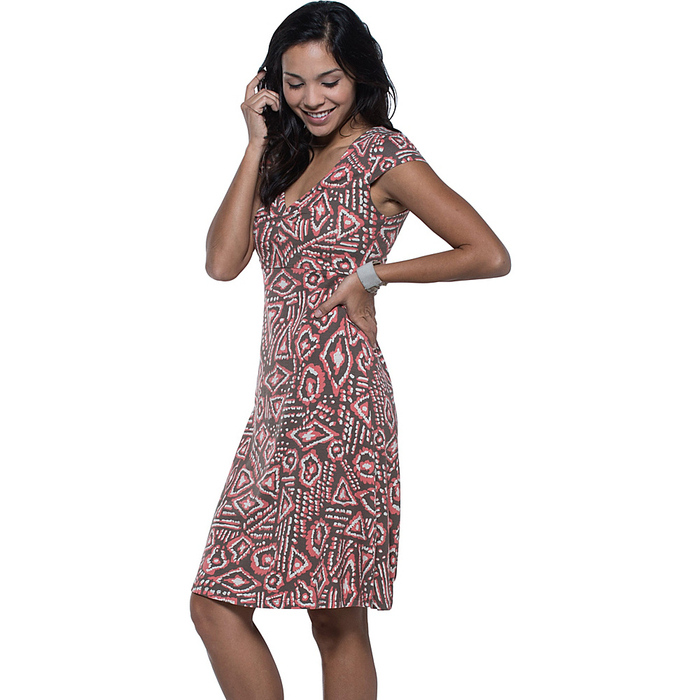 Toad & Co Rosemarie Dress XS - Falcon Brown Brush Print - Toad & Co Womens Apparel - Apparel & Footwear, Women's Apparel