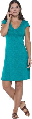 Toad & Co Rosemarie Dress L - Turquoise Cove Geo Print - Toad & Co Women's Apparel