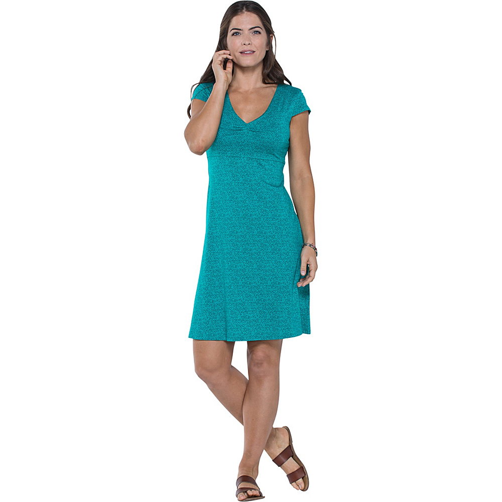Toad & Co Rosemarie Dress XL - Turquoise Cove Geo Print - Toad & Co Womens Apparel - Apparel & Footwear, Women's Apparel