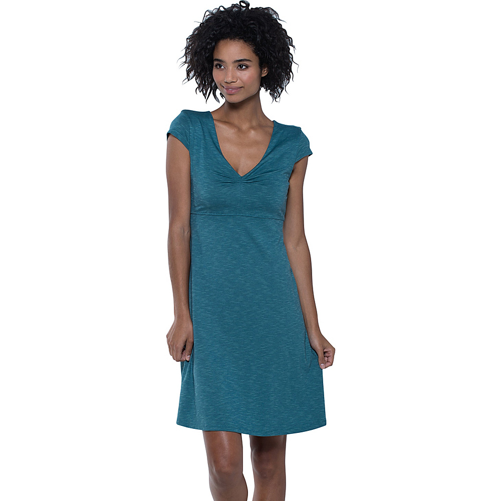 Toad & Co Rosemarie Dress XS - Hydro - Toad & Co Womens Apparel - Apparel & Footwear, Women's Apparel