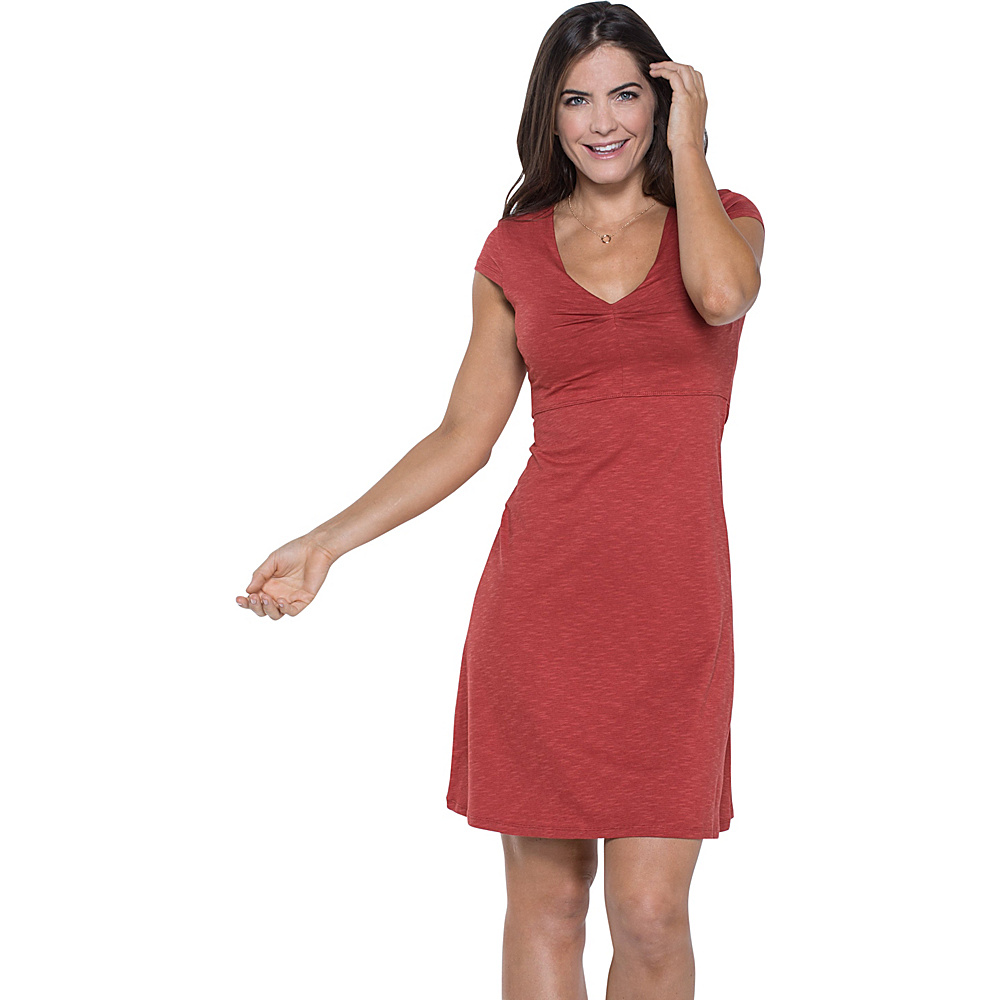 Toad & Co Rosemarie Dress XL - Red Clay - Toad & Co Womens Apparel - Apparel & Footwear, Women's Apparel