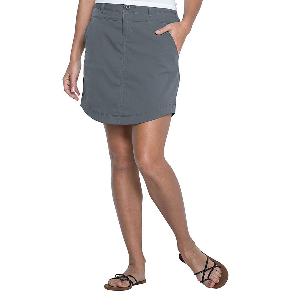 Toad & Co Metrolite Skirt 8 - Dark Graphite - Toad & Co Womens Apparel - Apparel & Footwear, Women's Apparel