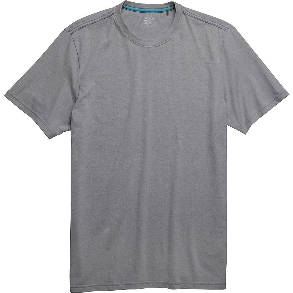 Toad & Co Motile Short Sleeve Crew M - Smoke - Toad & Co Mens Apparel - Apparel & Footwear, Men's Apparel
