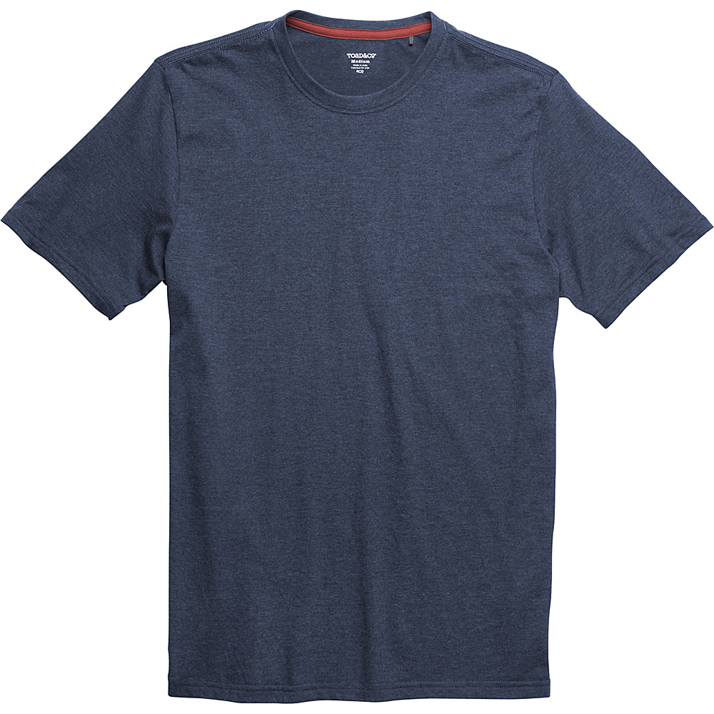 Toad & Co Motile Short Sleeve Crew XL - Deep Navy - Toad & Co Mens Apparel - Apparel & Footwear, Men's Apparel