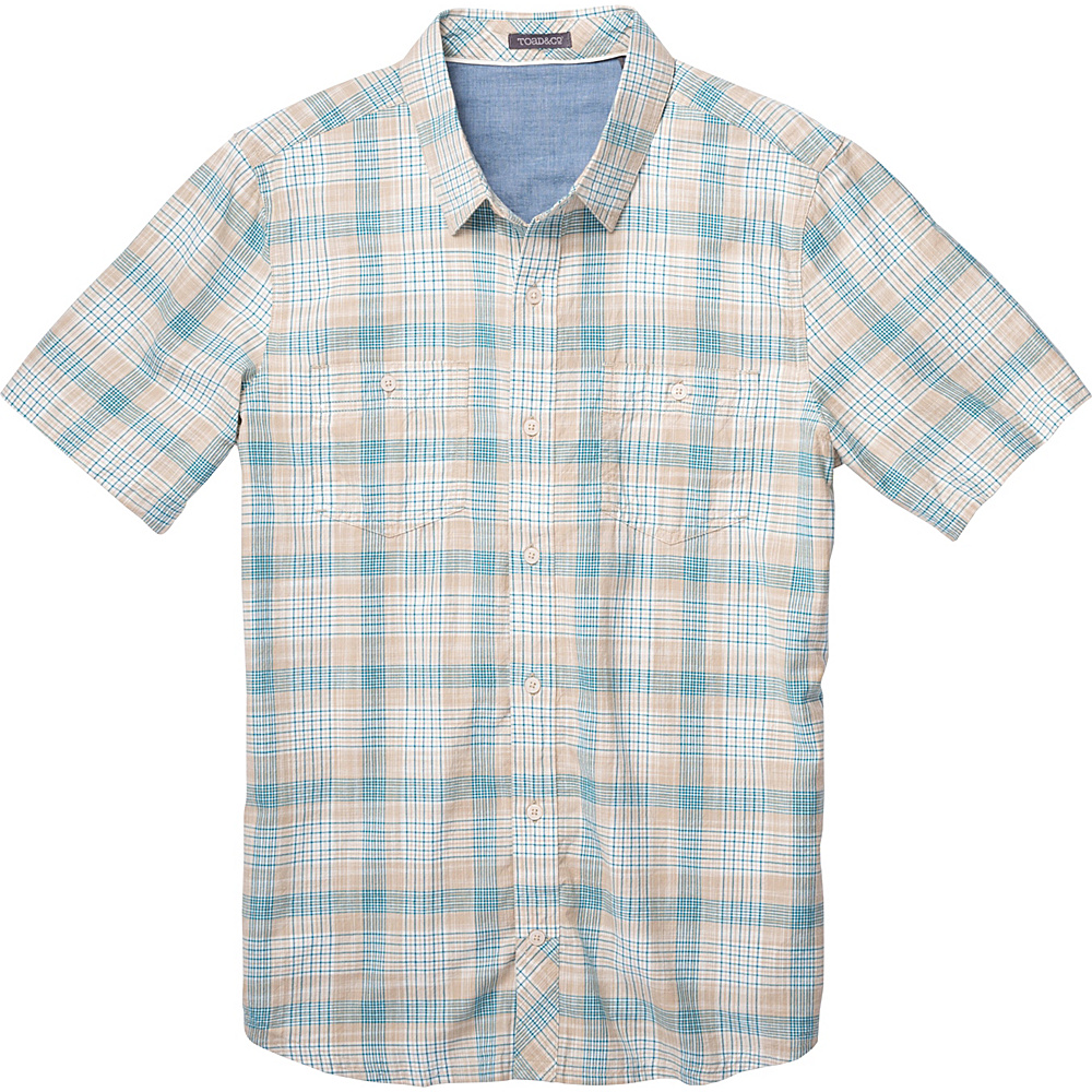 Toad & Co Smythy Short Sleeve Shirt M - Buckskin - Toad & Co Mens Apparel - Apparel & Footwear, Men's Apparel