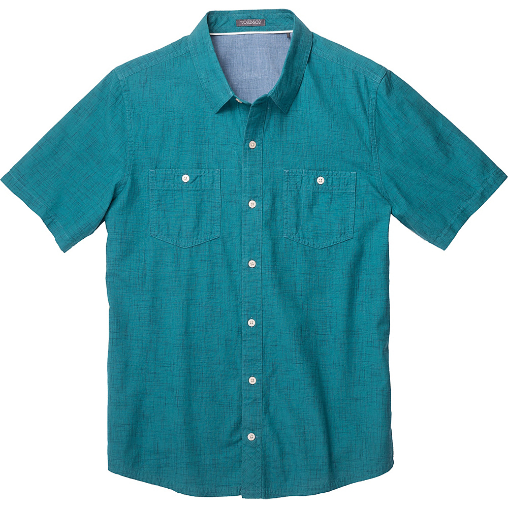Toad & Co Smythy Short Sleeve Shirt S - Hydro - Toad & Co Mens Apparel - Apparel & Footwear, Men's Apparel
