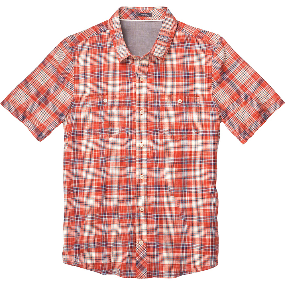 Toad & Co Smythy Short Sleeve Shirt XL - Red Clay - Toad & Co Mens Apparel - Apparel & Footwear, Men's Apparel