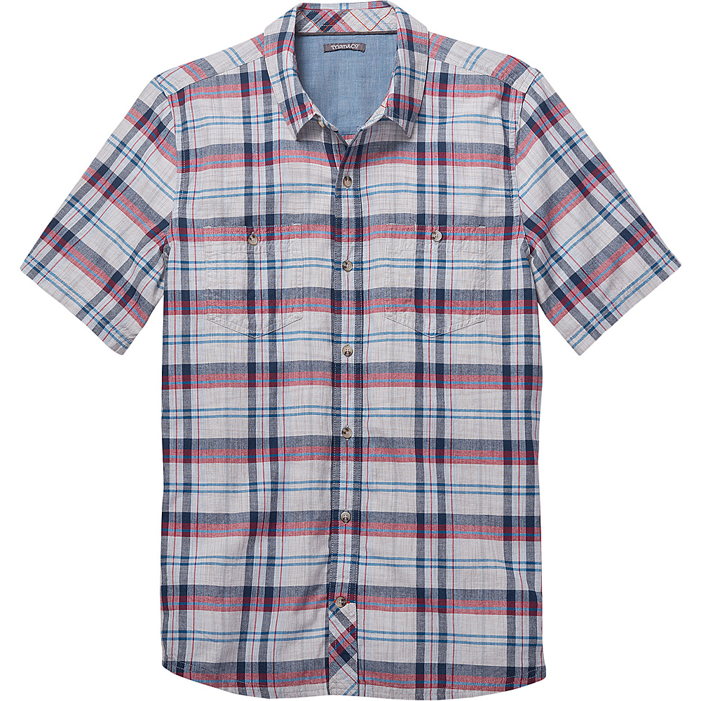 Toad & Co Smythy Short Sleeve Shirt L - Chrome - Toad & Co Mens Apparel - Apparel & Footwear, Men's Apparel