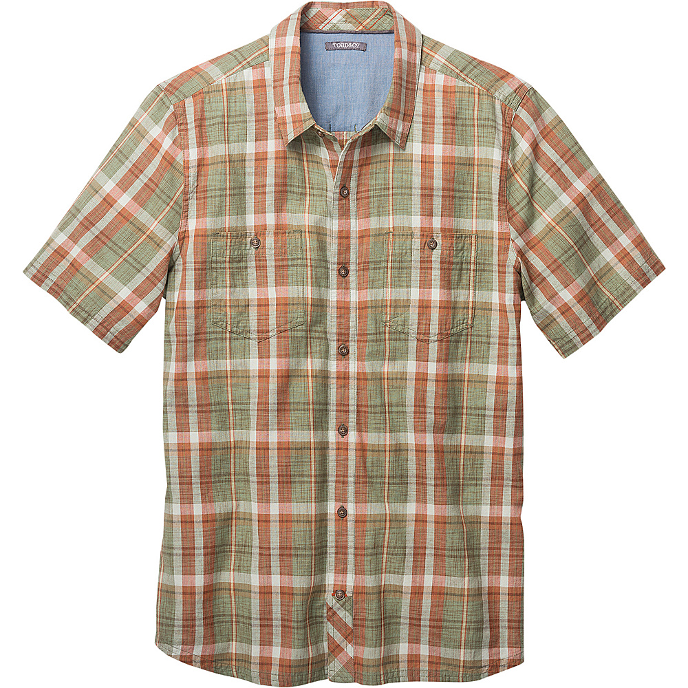 Toad & Co Smythy Short Sleeve Shirt XXL - Borealis - Toad & Co Mens Apparel - Apparel & Footwear, Men's Apparel