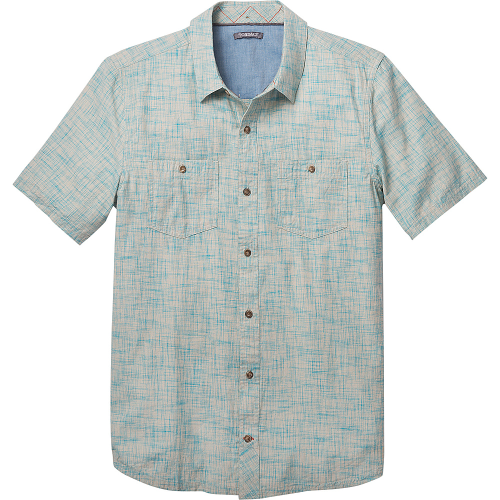 Toad & Co Smythy Short Sleeve Shirt XXL - Deepwater - Toad & Co Mens Apparel - Apparel & Footwear, Men's Apparel