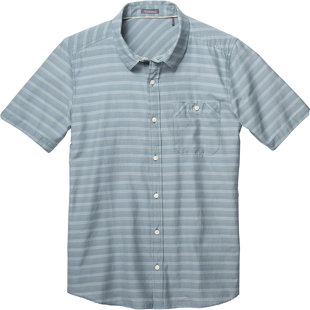 Toad & Co Wonderer Short Sleeve Shirt M - Hydro - Toad & Co Mens Apparel - Apparel & Footwear, Men's Apparel