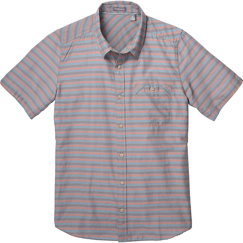 Toad & Co Wonderer Short Sleeve Shirt S - Red Clay - Toad & Co Mens Apparel - Apparel & Footwear, Men's Apparel