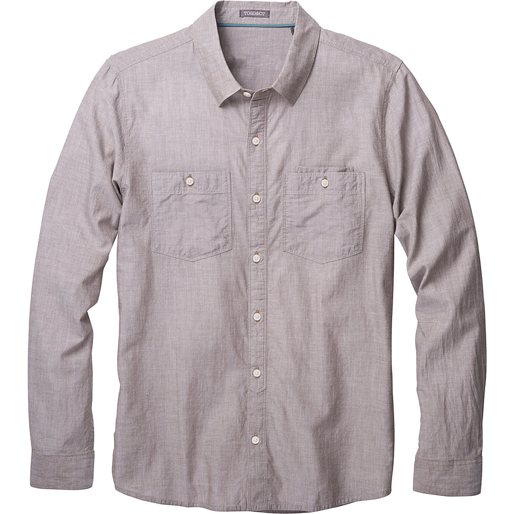 Toad & Co Honcho Dos Long Sleeve Shirt L - Jeep - Toad & Co Mens Apparel - Apparel & Footwear, Men's Apparel