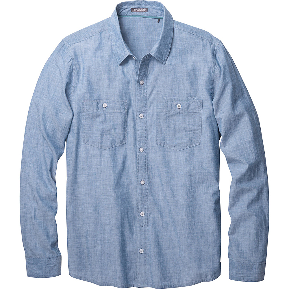 Toad & Co Honcho Dos Long Sleeve Shirt L - Blue Abyss - Toad & Co Mens Apparel - Apparel & Footwear, Men's Apparel