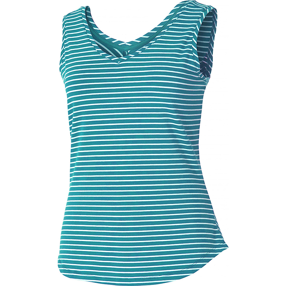 Royal Robbins Womens Active Essential Stripe Tank L - Reservoir - Royal Robbins Womens Apparel - Apparel & Footwear, Women's Apparel