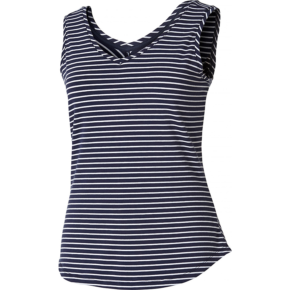 Royal Robbins Womens Active Essential Stripe Tank S - Navy - Royal Robbins Womens Apparel - Apparel & Footwear, Women's Apparel