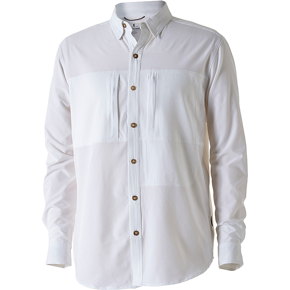 Royal Robbins Mens Diablo Tabernas Long Sleeve Shirt L - White - Royal Robbins Mens Apparel - Apparel & Footwear, Men's Apparel