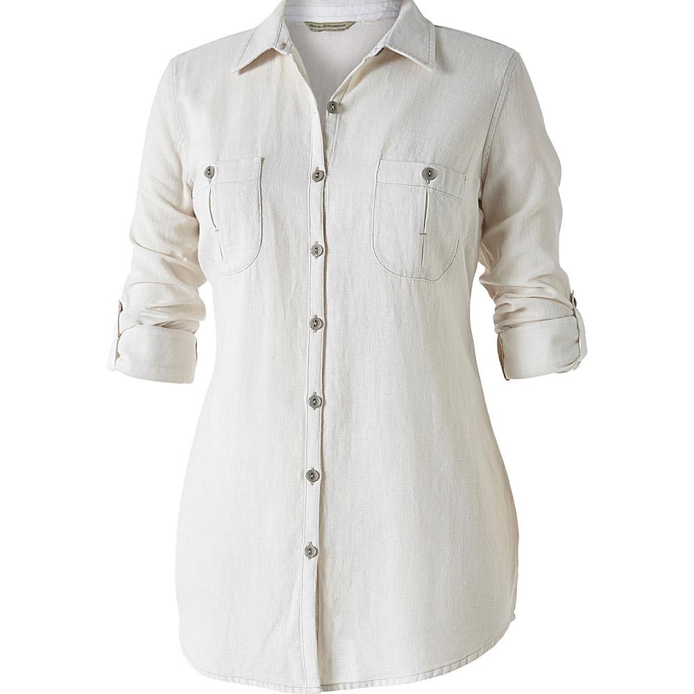 Royal Robbins Womens Cool Mesh Long Sleeve Shirt XL - Creme - Royal Robbins Womens Apparel - Apparel & Footwear, Women's Apparel