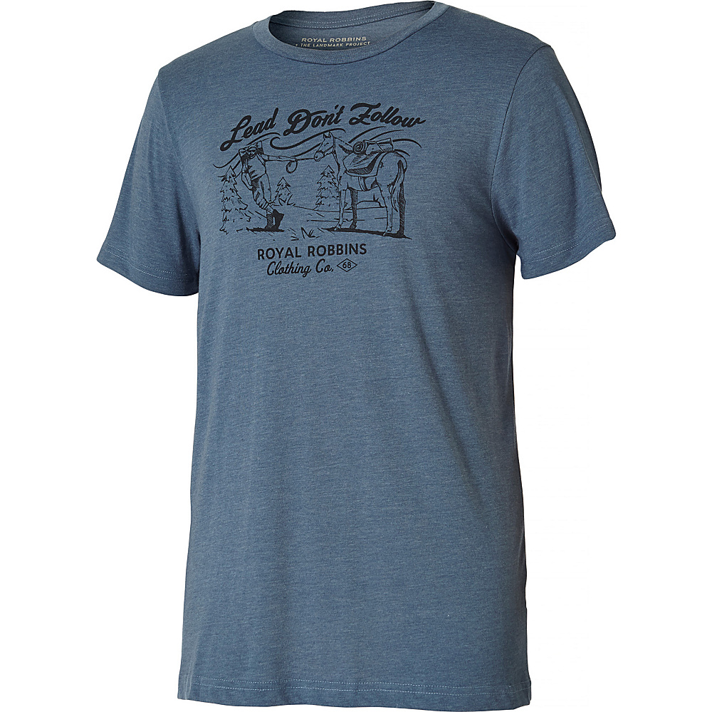 Royal Robbins Mens Lead Dont Follow Tee S - Slate - Royal Robbins Mens Apparel - Apparel & Footwear, Men's Apparel
