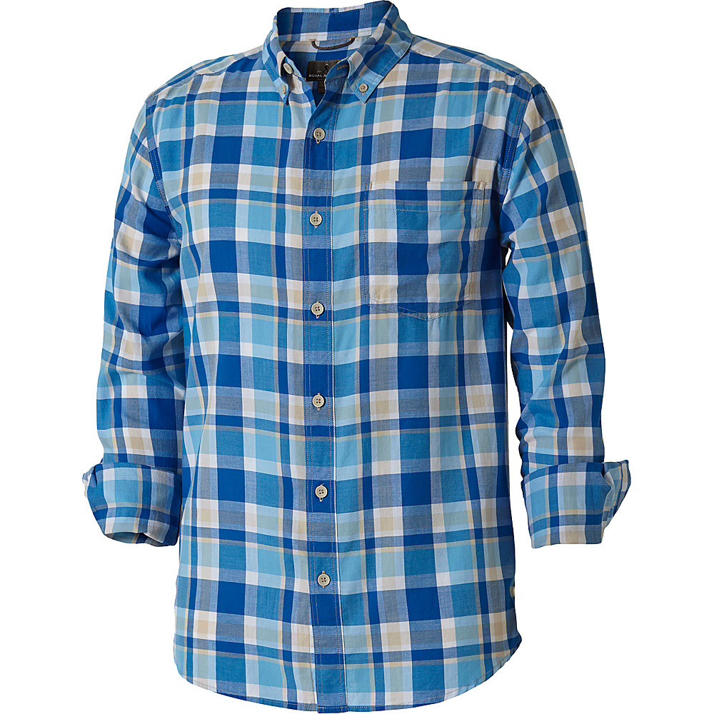 Royal Robbins Mens Painted Canyon Plaid Long Sleeve Shirt XXL - Oceania - Royal Robbins Mens Apparel - Apparel & Footwear, Men's Apparel