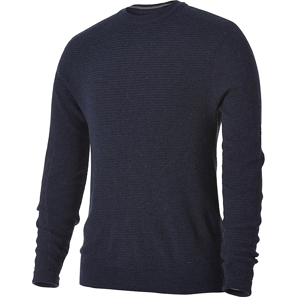 Royal Robbins Mens All Season Merino Crew M - Navy - Royal Robbins Mens Apparel - Apparel & Footwear, Men's Apparel