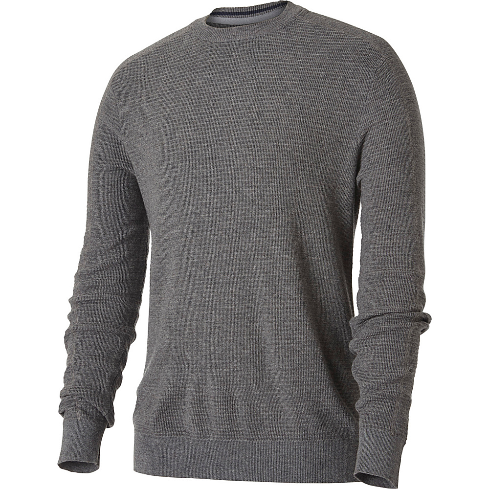 Royal Robbins Mens All Season Merino Crew S - Pewter - Royal Robbins Mens Apparel - Apparel & Footwear, Men's Apparel