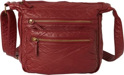 Ampere Creations The Elsa Crossbody Burgundy - Ampere Creations Manmade Handbags