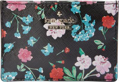 kate spade new york Cameron Street Jardin Card Holder Black Multi - kate spade new york Women's Wallets