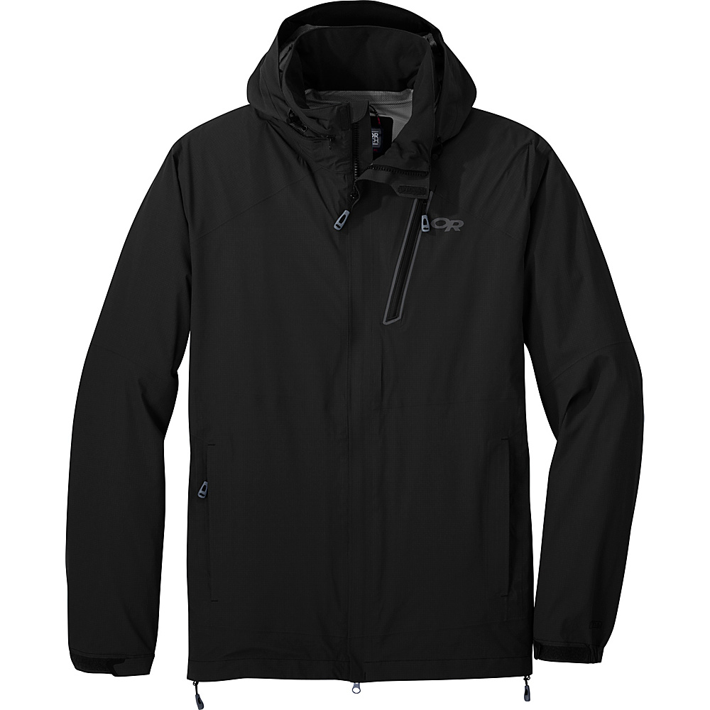 Outdoor Research Mens Valley Jacket S - Black - Outdoor Research Mens Apparel - Apparel & Footwear, Men's Apparel