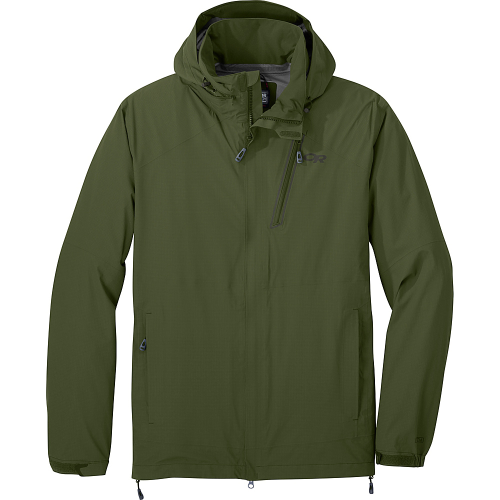 Outdoor Research Mens Valley Jacket L - Kale - Outdoor Research Mens Apparel - Apparel & Footwear, Men's Apparel