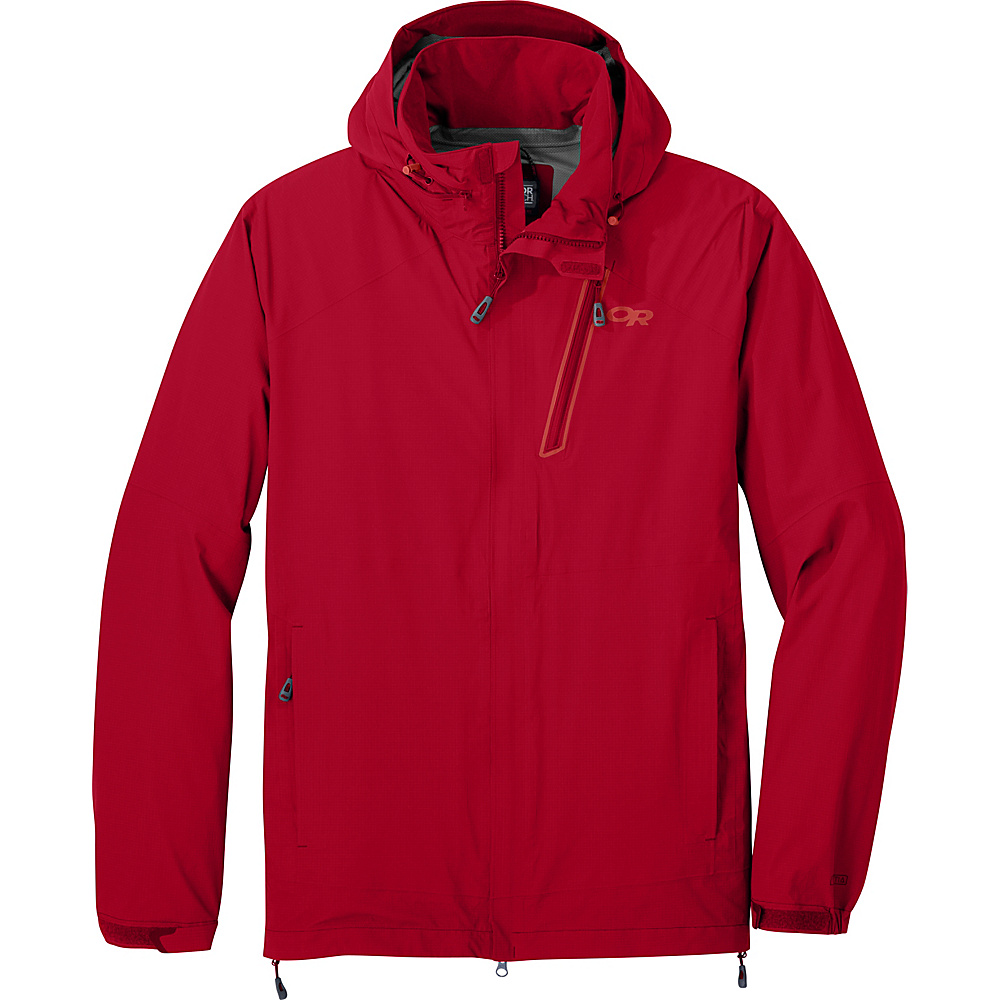 Outdoor Research Mens Valley Jacket L - Agate - Outdoor Research Mens Apparel - Apparel & Footwear, Men's Apparel
