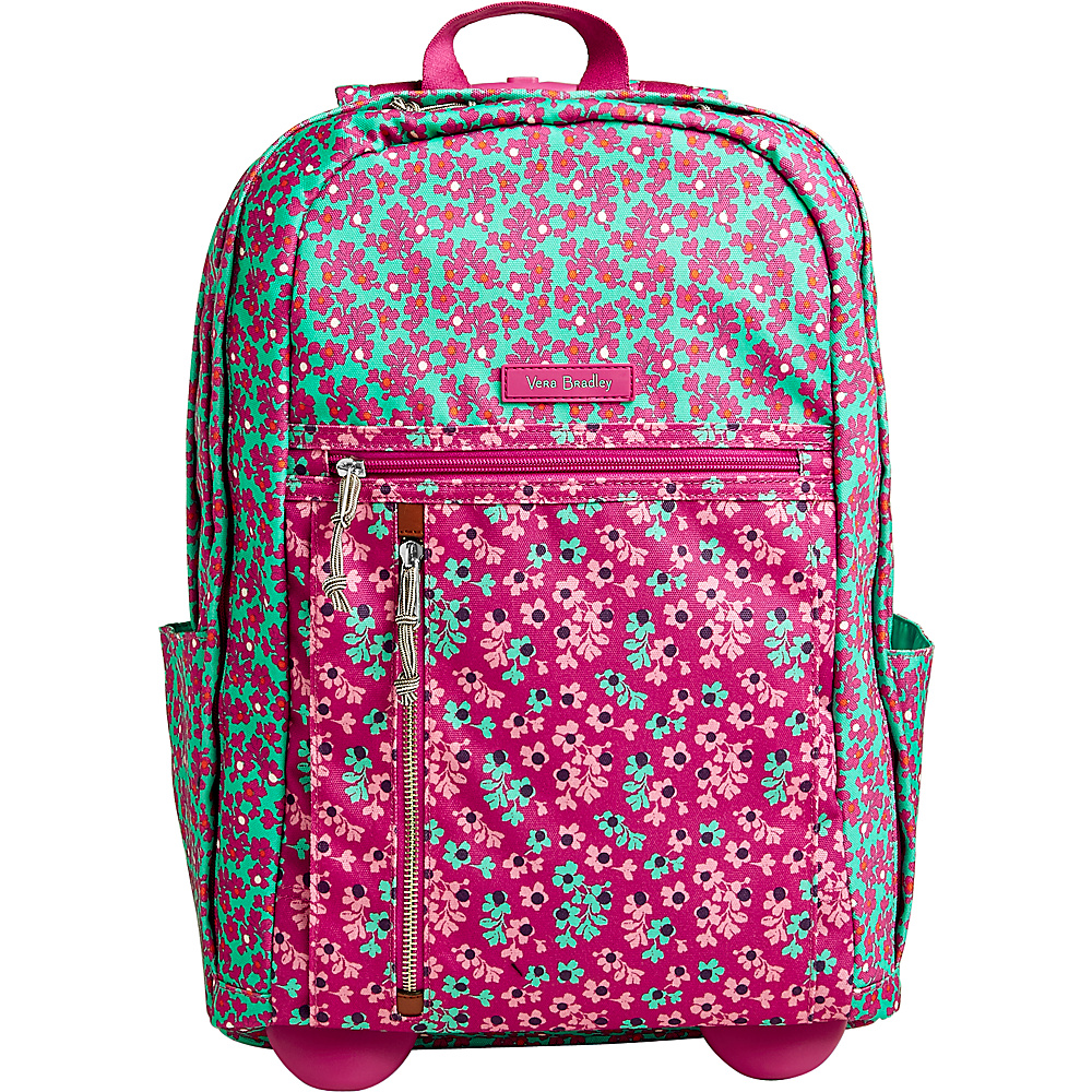 Vera Bradley Rolling Backpack Ditsy Dot - Vera Bradley Rolling Backpacks - Backpacks, Rolling Backpacks