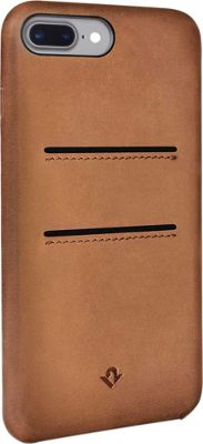 Twelve South Relaxed Leather Case with Pockets for iPhone 7 Plus Cognac - Twelve South Electronic Cases