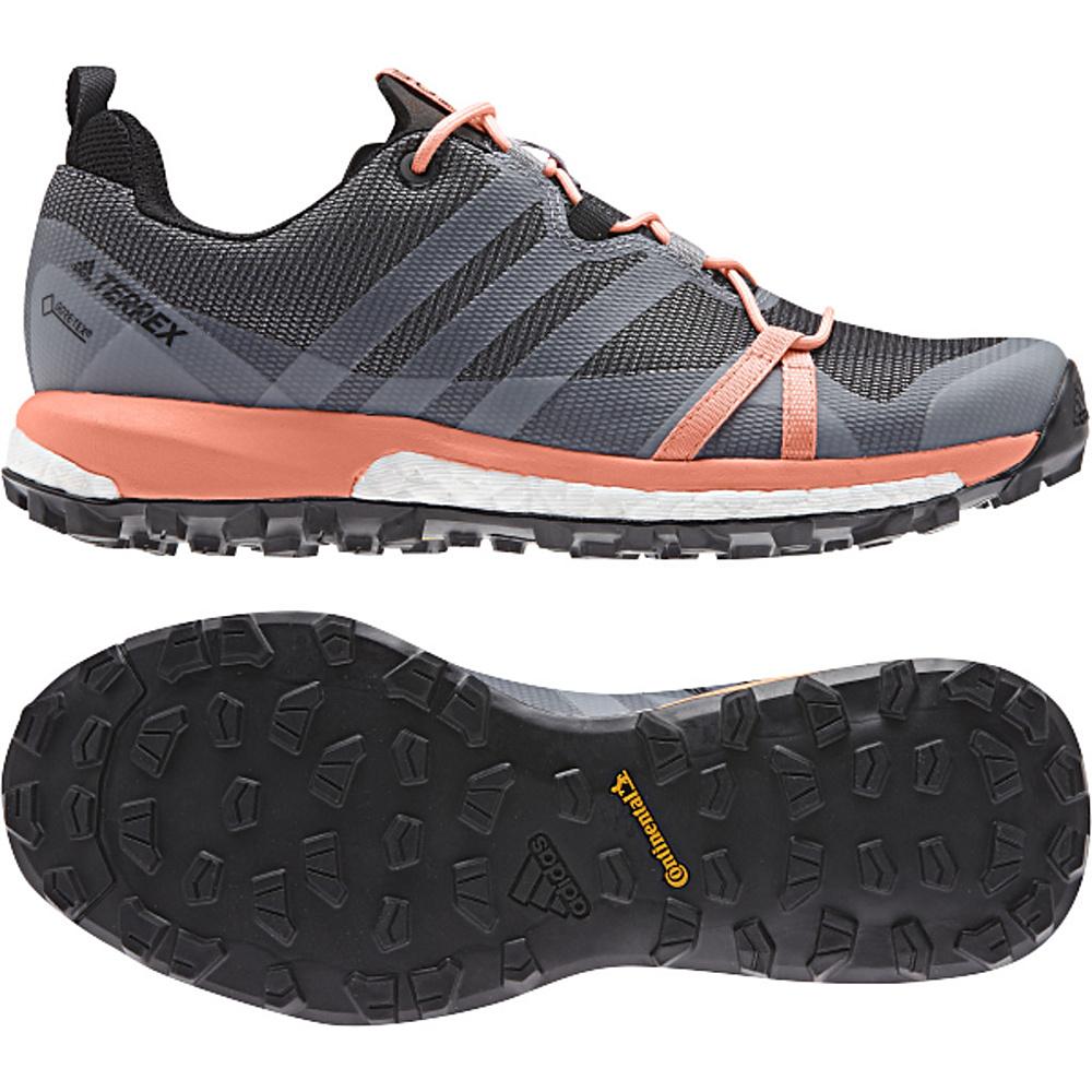 adidas outdoor Womens Terrex Agravic GTX Shoe 5 - Grey Three/White/Chalk Coral - adidas outdoor Womens Footwear - Apparel & Footwear, Women's Footwear