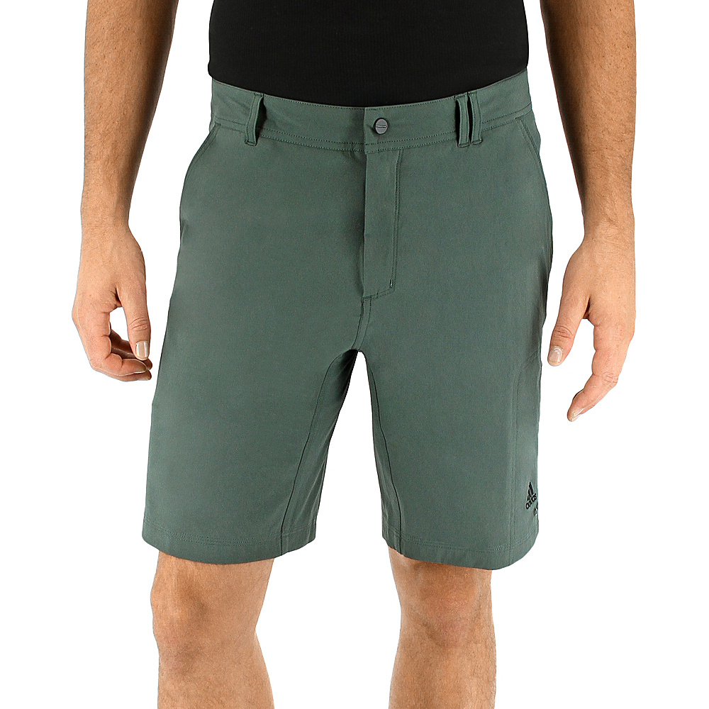 adidas outdoor Mens Lite Hike Flex Short 36 - 9in - Utility Ivy - adidas outdoor Mens Apparel - Apparel & Footwear, Men's Apparel