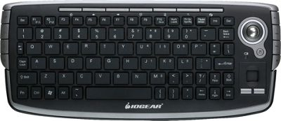 IOGEAR Wireless Compact Keyboard with Optical Trackball and Scroll Wheel Black - IOGEAR Business Accessories