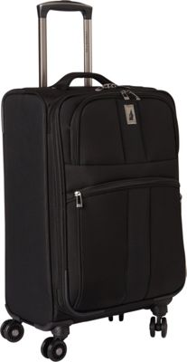 London Fog Wellington 360 Ultra-Lightweight 21 inch Expandable 8-Wheel Spinner Carry-On Black - London Fog Kids' Luggage