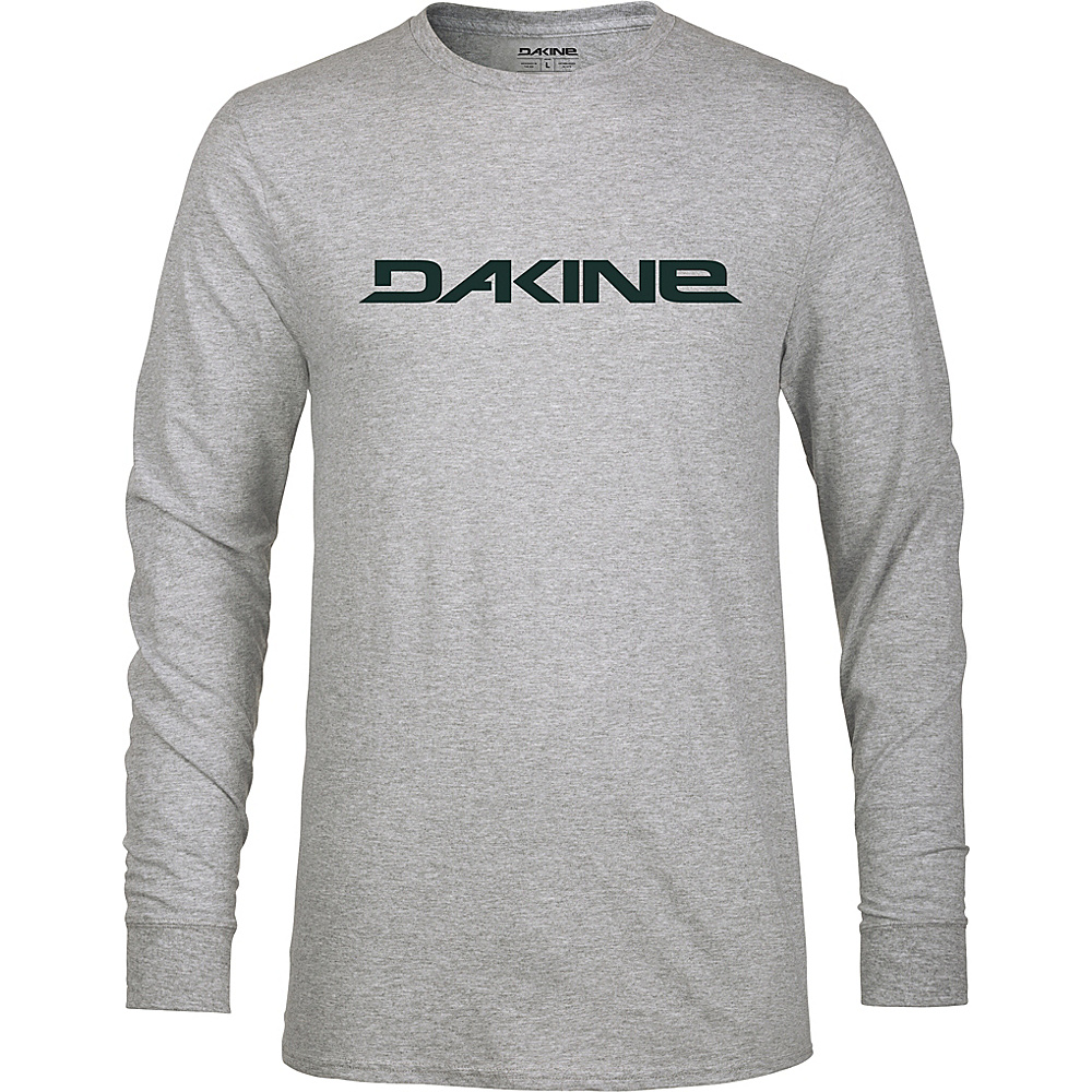 DAKINE Mens Rail Logo Long Sleeve Tech T S - Heather Graphite - DAKINE Mens Apparel - Apparel & Footwear, Men's Apparel