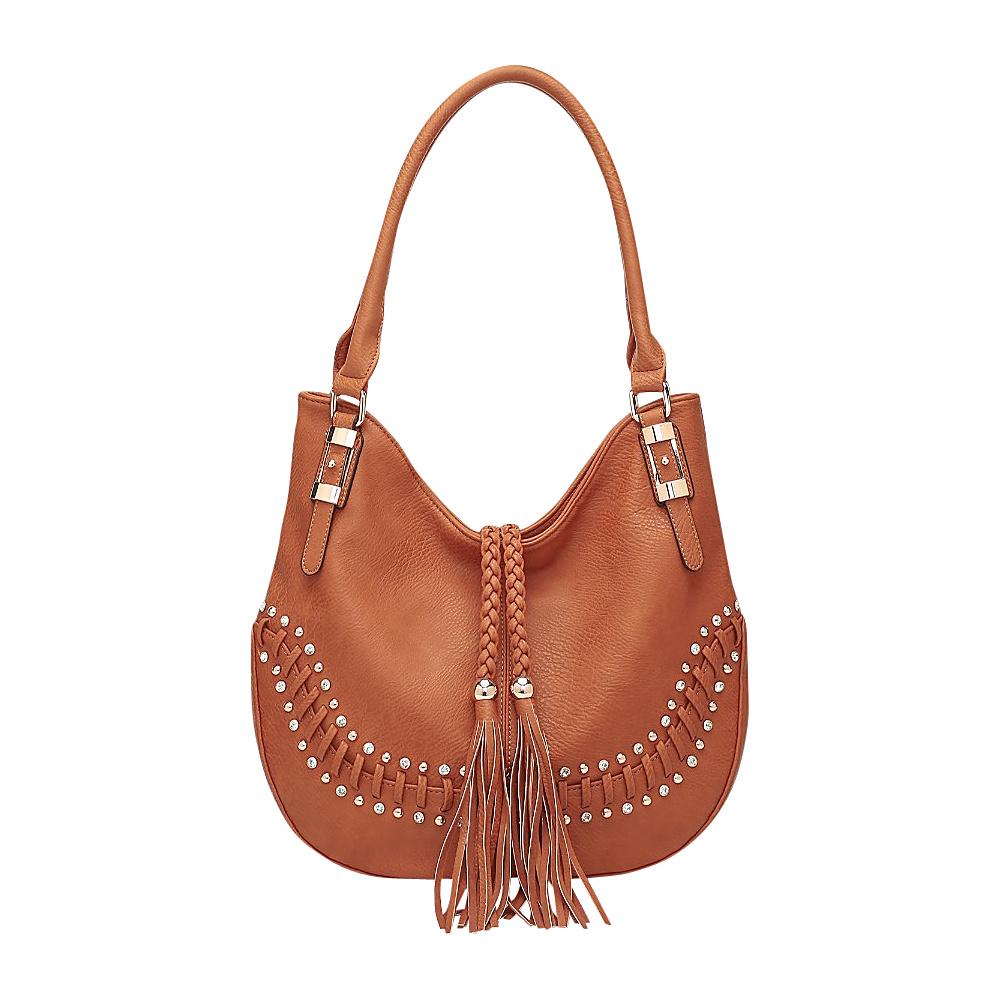 MKF Collection by Mia K. Farrow Iva Hobo Brown - MKF Collection by Mia K. Farrow Manmade Handbags - Handbags, Manmade Handbags
