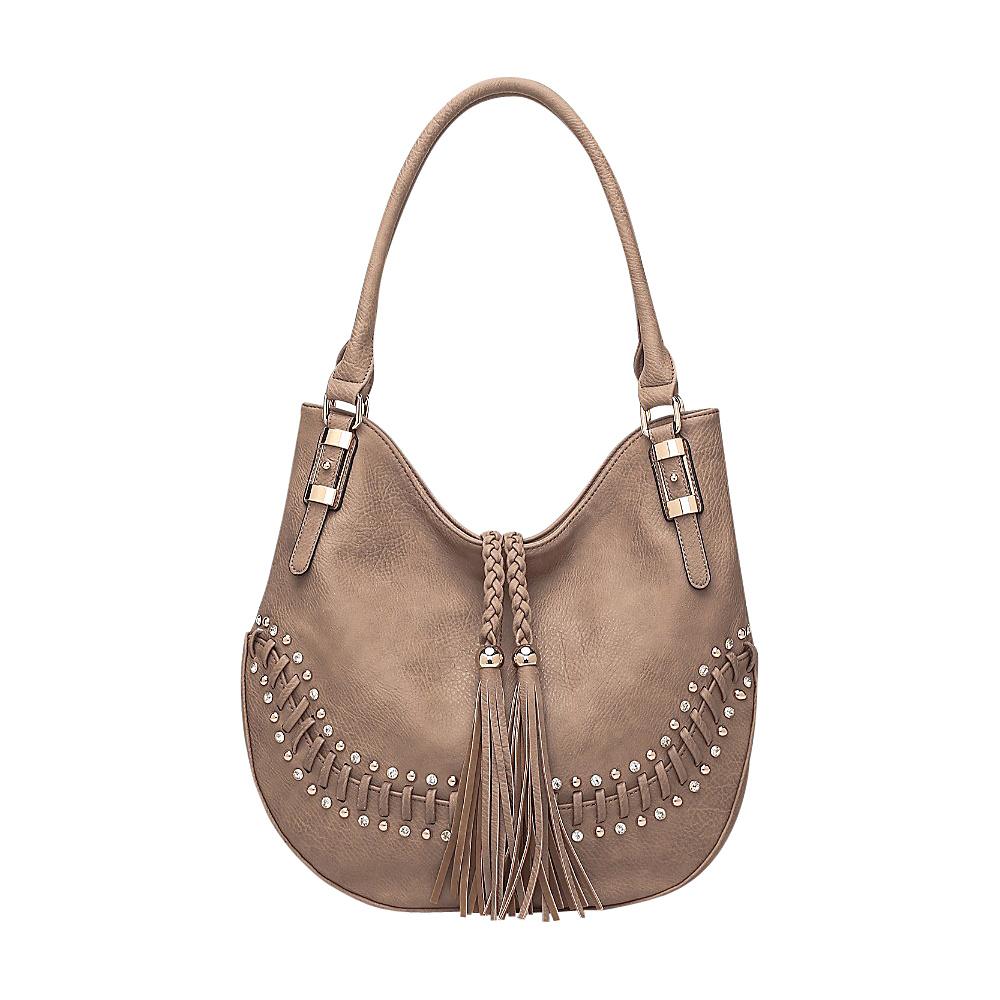 MKF Collection Iva Hobo Khaki - MKF Collection Manmade Handbags - Handbags, Manmade Handbags