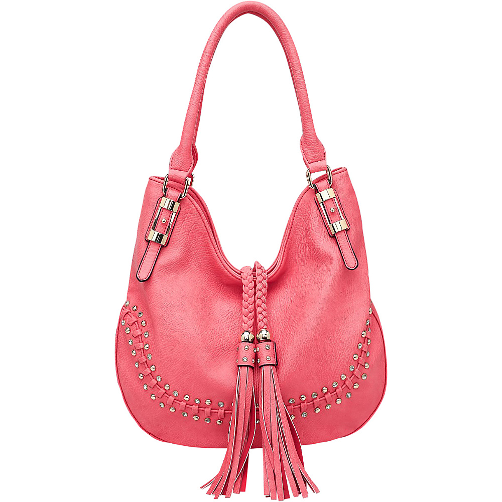 MKF Collection by Mia K. Farrow Iva Hobo Red - MKF Collection by Mia K. Farrow Manmade Handbags - Handbags, Manmade Handbags