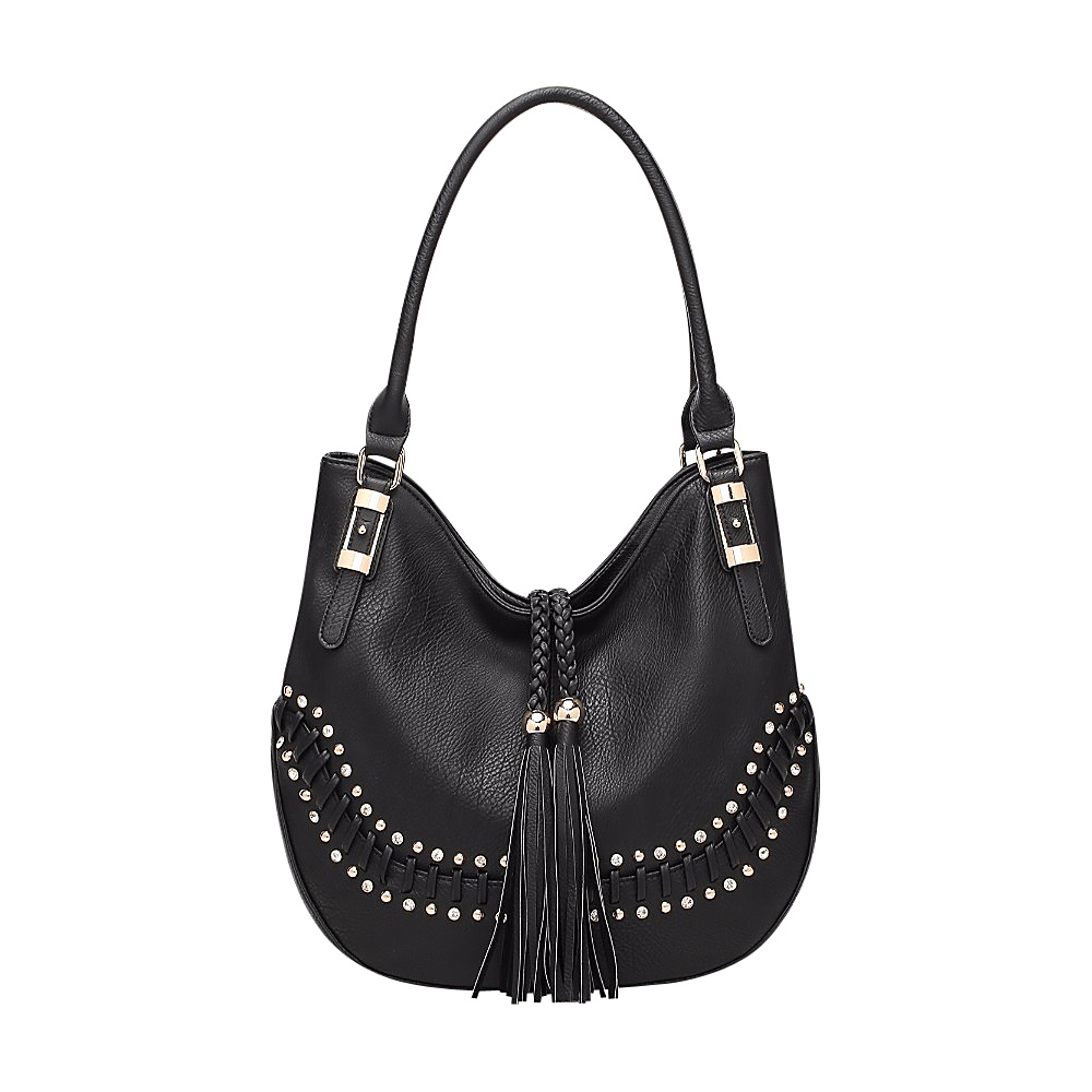 MKF Collection by Mia K. Farrow Iva Hobo Black - MKF Collection by Mia K. Farrow Manmade Handbags - Handbags, Manmade Handbags