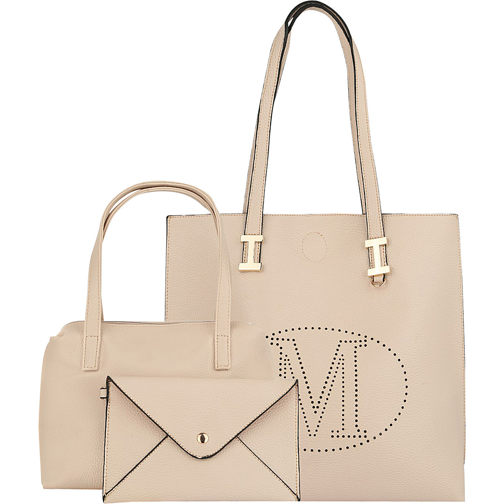 MKF Collection by Mia K. Farrow Mackenzie 3 In 1 Tote Beige - MKF Collection by Mia K. Farrow Manmade Handbags - Handbags, Manmade Handbags