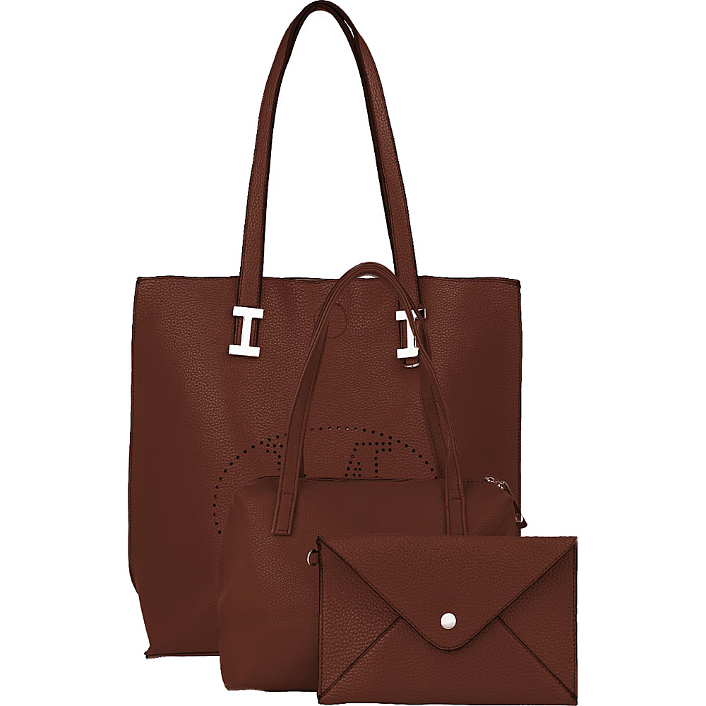MKF Collection Mackenzie 3 In 1 Tote Coffee - MKF Collection Manmade Handbags - Handbags, Manmade Handbags